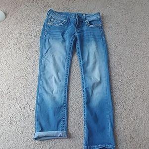 Size 27 miss me signature crop jeans capris